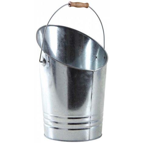 Seau à cendres en métal galvanisé