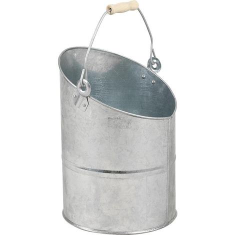Seau à cendres en zinc lourd Ø 26 h 24-37