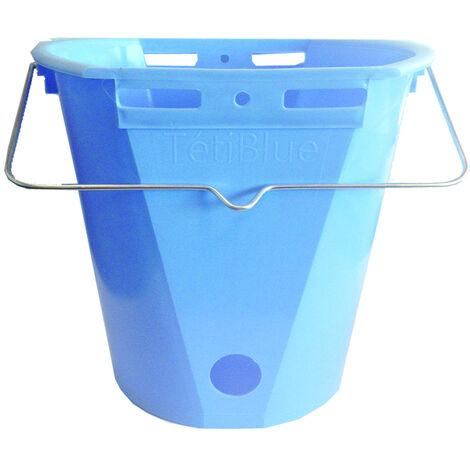 Seau à veau plastique 8 L bleu TETIBLUE nu