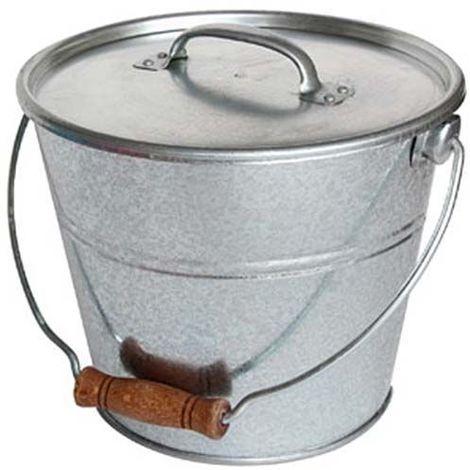 Seau avec couvercle pour cendres granulés ou compost