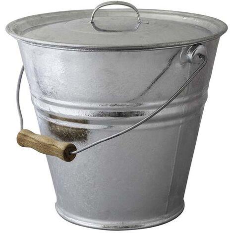 Seau cendres granulés ou compost avec couvercle 10 litres