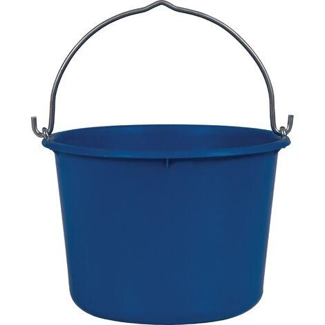 Seau de chantier 12 l lourde bleu polyéthylène