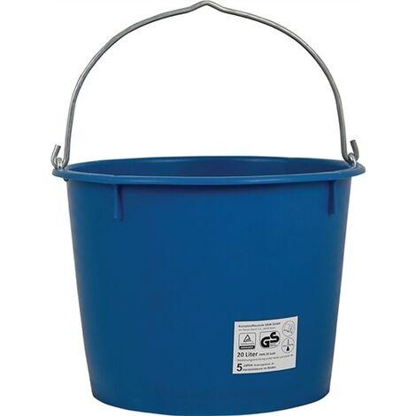 Seau de chantier 20 l lourde bleu plastique spécial