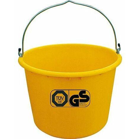 Seau de chantier 20L jaune accrochable TüV emballage 5 pces