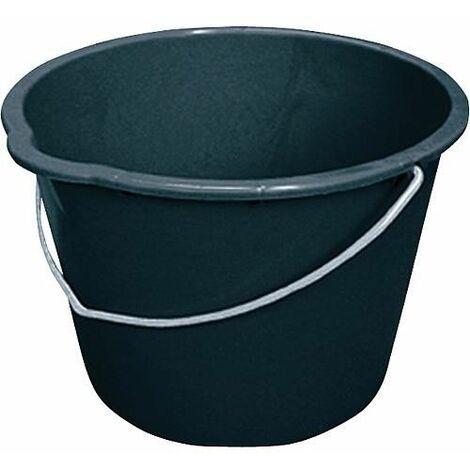 Seau de chantier 20L noir avec bec verseur emballage 10 pces