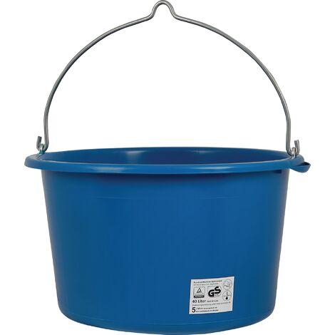 Seau de chantier 40 l lourde bleu plastique spécial