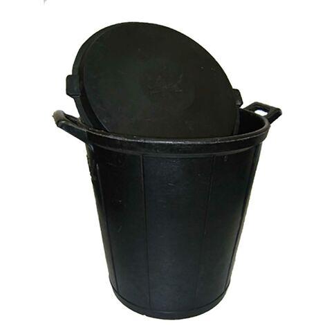 Seau de construction sans couvercle 075Lt caoutchouc noir feutre noir Kanguro