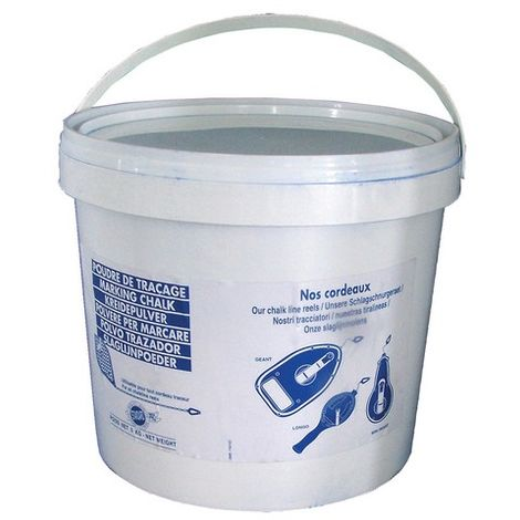 Seau De Poudre à Tracer Bleue 5kg - Plusieurs conditionnements disponibles