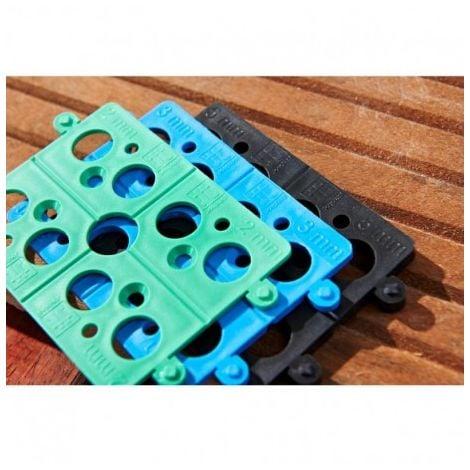 Seau d'un jeu de 300 Cales Plates Sécable Mix Jouplast 3 dimensions : 2, 3 et 5 mm