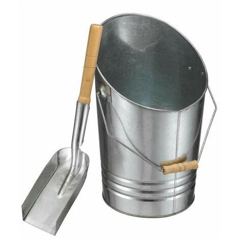 Seau et pelle à cendres métal galvanisé