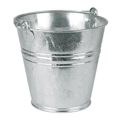 Seau galvanisé à eau, pour chenil et chien. Désignation : Seau Galva | Capacité : 11 litres MORIN 2918
