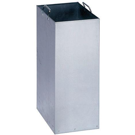 Seau intérieur pour poubelle de tri - en tôle d'acier galvanisée - pour capacité 40 l - Coloris: Zingué