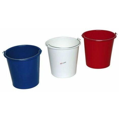 seau menage rond 10 litres plastique couleur - hex-17722-10