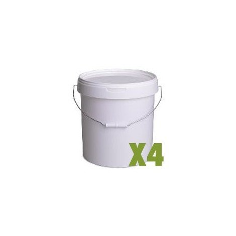 Seau plastique 20L x4
