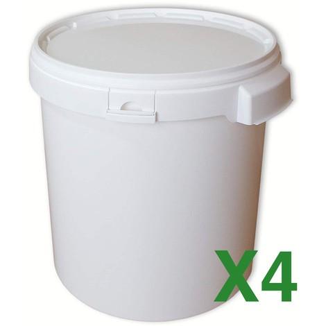 Seau plastique 32L x4