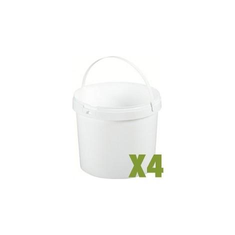 Seau plastique 5L x4