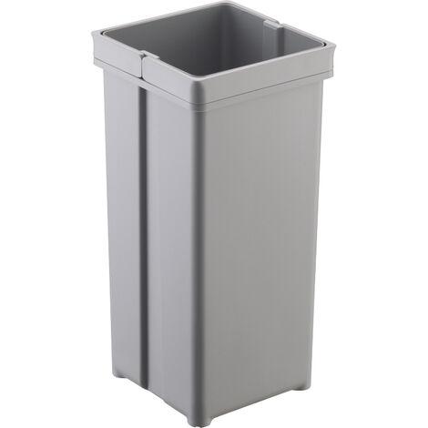 Seau pour poubelle avec double poigne - Contenance : 5 L - Hauteur : 295 mm - Largeur : 152 mm - Longueur : 152 mm - WESCO