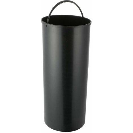 Seau pour poubelle cylindrique 42L Noir modèle ARTIC SOHO CAN