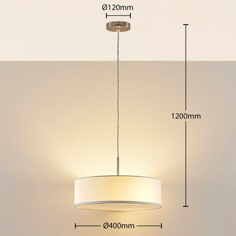 Sebatin - lampada a sospensione bianca -
