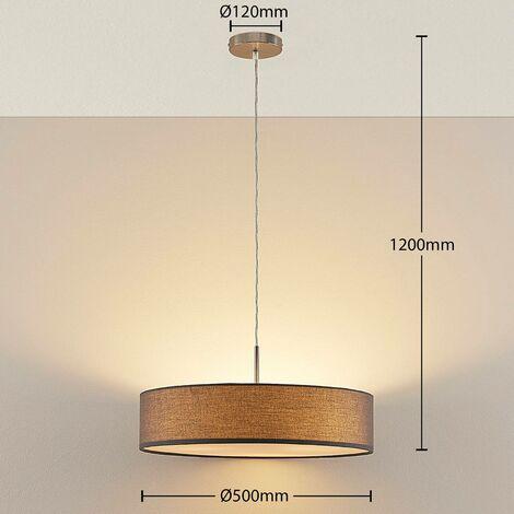 Sebatin - lampada a sospensione grigia con LED E27 -