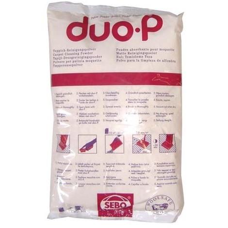 SEBO - Poudre pour absorption DuoP - moquette et tapis - 500 g