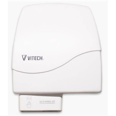 Sèche-mains Vitech ABS blanc 950W automatique a détection infrarouge