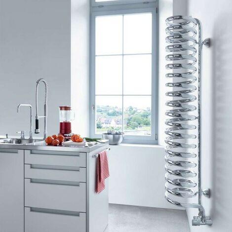 Sèche-serviette ACOVA Spirale eau chaude chromé 540W SPILO-150-020