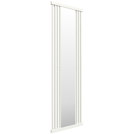 Sèche-serviette avec miroir - Blanc - Intra/SXB (plusieurs tailles disponibles)