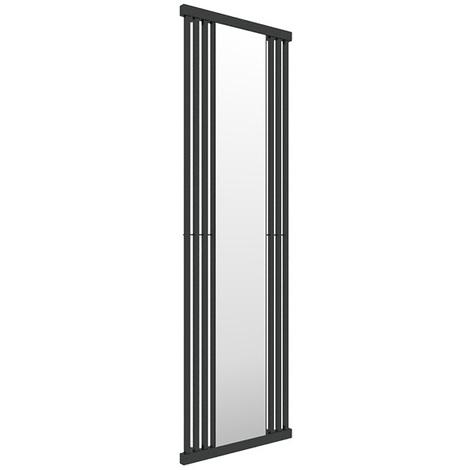 Sèche-serviette avec miroir - Noir - Intra/MN (plusieurs tailles disponibles)