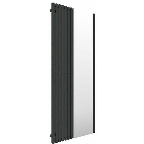 Sèche-serviette avec miroir - Noir - Triga M/E1N (plusieurs tailles disponibles)