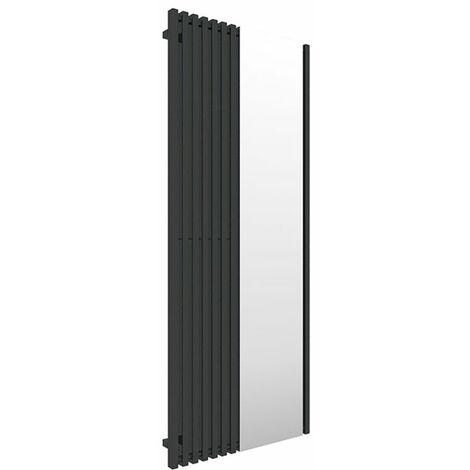 Sèche-serviette avec miroir - Noir - Triga M/E8N (plusieurs tailles disponibles)