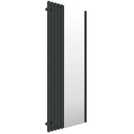 Sèche-serviette avec miroir - Noir - Triga M/SXN (plusieurs tailles disponibles)