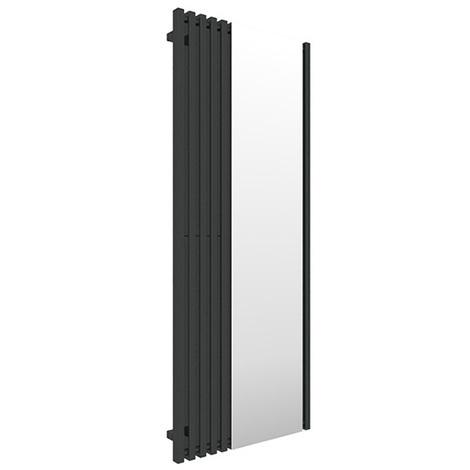 Sèche-serviette avec miroir - Noir - Triga M/YLN (plusieurs tailles disponibles)