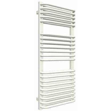 Sèche-serviette chauffage central - Blanc - Raccordement aux extrémités - Tytus/SXB (plusieurs tailles disponibles)