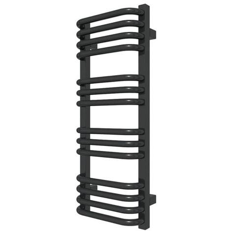 Sèche-serviette chauffage central - Noir - Alex/SXN (plusieurs tailles disponibles)