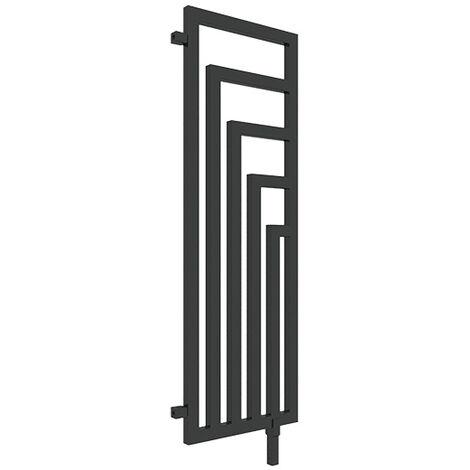 Sèche-serviette chauffage central - Noir Mat - Angus DW/ZXN (plusieurs tailles disponibles)