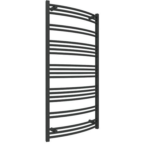 Sèche-serviette chauffage central - Noir Mat - Jade/SXN (plusieurs tailles disponibles)