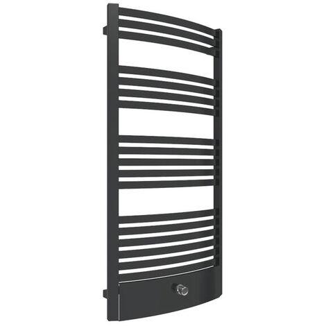 Sèche-serviette chauffage central - Noir Mat - Raccordement au centre - Dexter/P/ZXN (plusieurs tailles disponibles)
