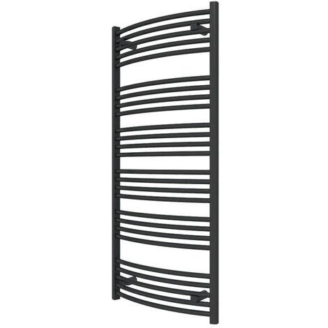 Sèche-serviette chauffage central - Noir Mat - Raccordement aux extrémités - Domi/SXN (plusieurs tailles disponibles)
