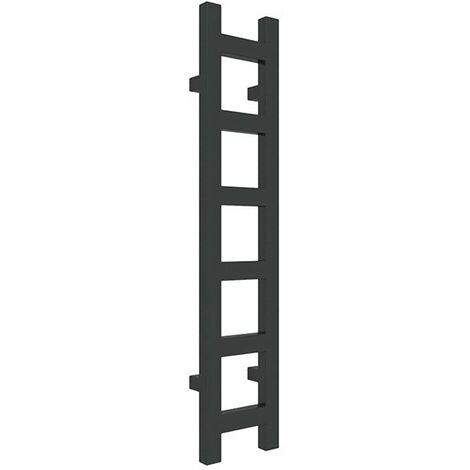 Sèche-serviette chauffage central - Noir Mat - Raccordement aux extrémités - Easy/SXN (plusieurs tailles disponibles)