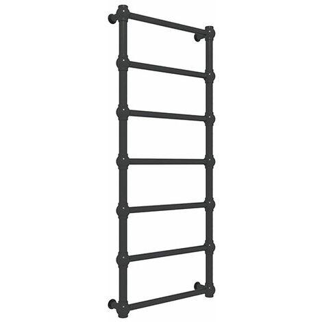 Sèche-serviette chauffage central noir mat - Rétro (plusieurs tailles disponibles)