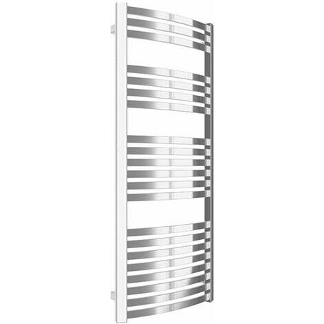Sèche-serviette chromé - Chauffage central - Raccordement aux extrémités - Dexter/SX (plusieurs tailles disponibles)