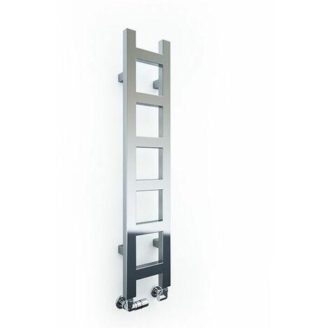 Sèche-serviette chromé - Chauffage central - Raccordement aux extrémités - Easy/CHSX (plusieurs tailles disponibles)