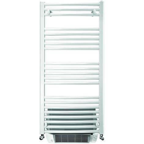 Sèche-serviette cintré Capitole 2 eau chaude + soufflerie - 429+1000W - Blanc
