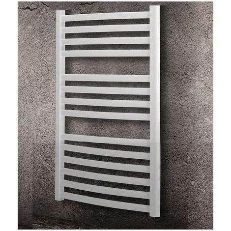 Seche serviette eau-chaude 386W blanc cintré H 849mm L 500mm pour chauffage central MINORCA RADSON MI0508