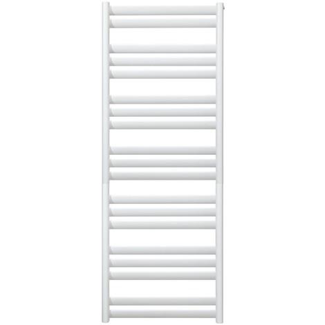 Seche-serviette Eau Chaude 668W blanc 1336X500mm 19 tubes droit inclinés pour chauffage central NOVELLA BAIN FINIMETAL N07DEC