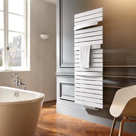 Sèche-serviette eau chaude Arborescence Smart blanc 796W - collecteur à droite