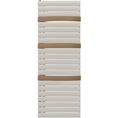 Sèche-serviette eau chaude Arborescence Smart white/bronze textured 934W - collecteur à droite