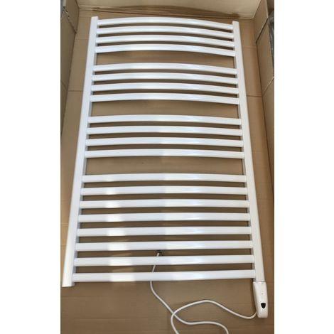 Seche-serviette electrique 1000W à fluide caloporteur blanc RAL 9016 H1220mm L750mm cintré MINORCA E RADSON MI0712EL