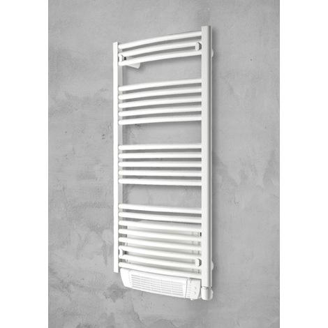 Sèche-serviette électrique ++ 1000w soufflant - Capitole 2 - finitions epoxy - cintré - blanc